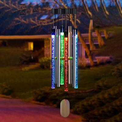 Solar Powered Led Color Changing Wind Chime Light Outdoor Garden Tree Decor • 14.95£