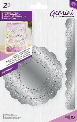 Gemini Elements Flower Forming Foam Die - Traditional Doily & Border • 5£