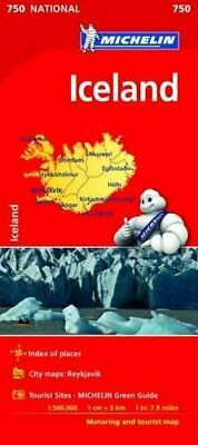 Iceland (Michelin National Maps) By Michelin (2016) • 6.60£