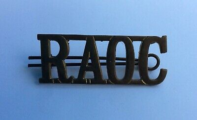 Royal Army Ordnance Corps Shoulder Title Brass • 4£
