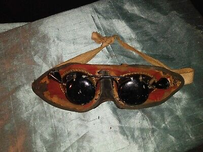 $45 • Buy Antique Masonic Initiation Goggles Ritual Hoodwink Blinders