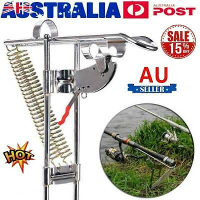 AU21.48 • Buy Fishing Rod Holder Automatic Spring Tip-Up Hook Setter Automatic Rod Holder AU