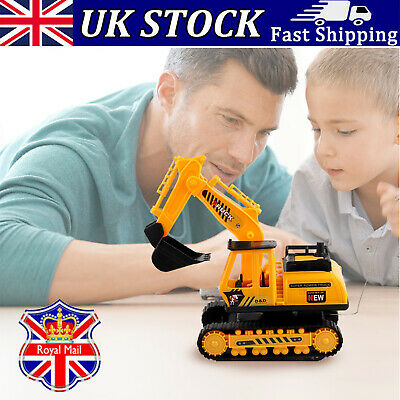 Baby Excavator Toy RC Engineering Car Remote Control Plastic Kid Child Gift • 8.99£