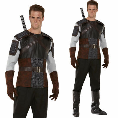 £33.99 • Buy Wild Hunter Costume Mens Medieval Robin Hood Deluxe Fancy Dress Outfit