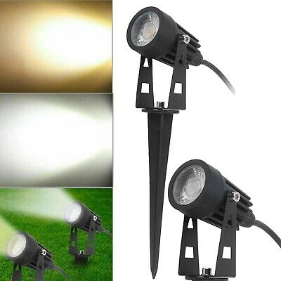 Garden Spotlights COB LED 240V Mains Outdoor Yard Lawn Waterproof Spike Light UK • 8.29£