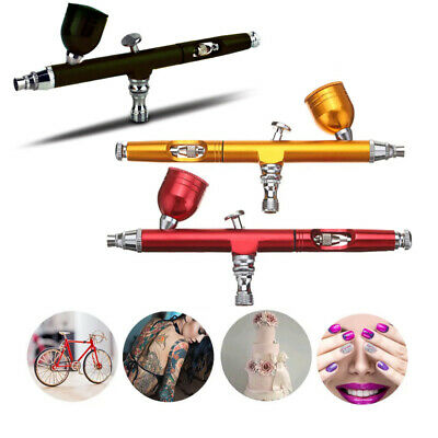 $20.99 • Buy Dual Action Gravity Feed 0.3mm Gun Spray Airbrush Nail Art Paint Tattoo Tool Set