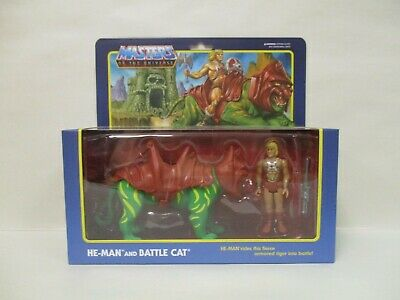 $39.95 • Buy 2019 Super 7 Motu Masters Of Universe Reaction Battle Cat He-man Combo Set New