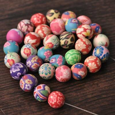 $ CDN5.81 • Buy 50pcs Mixed Colors Round 6mm 8mm 10mm 12mm 14mm Polymer Clay Charm Loose Beads