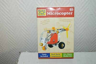 Helicopter Microcopter TOBAR 55 Pcs Style Meccano New Metal + Tool Model Kit • 9.19£
