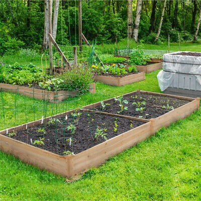 £31.95 • Buy Square Raised Garden Bed Wooden Elevated Planter Box 106/ 80cm Large F Veg Herbs