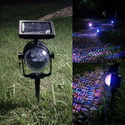 Solar Spot Lights LED Colour Changing Projection Stake Garden Party Stage Lights • 9.99£