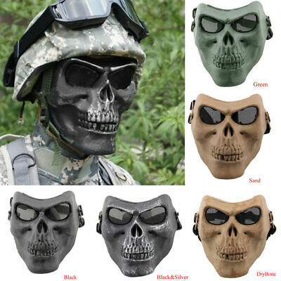 $14.99 • Buy Tactical Military Skull Skeleton Full Face Mask Hunting Costume Party Halloween