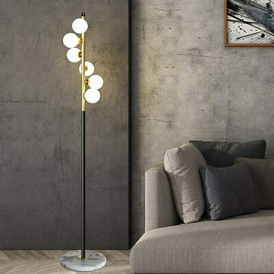 White Glass Shade And Marble Base Elegant Modern Creative Floor Lamp For Living  • 131.69£