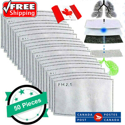 $ CDN7.95 • Buy PM2.5 Face Mask Filter 5 Layers - Carbon Filters Replacement 5,10,20,50,100 Pcs