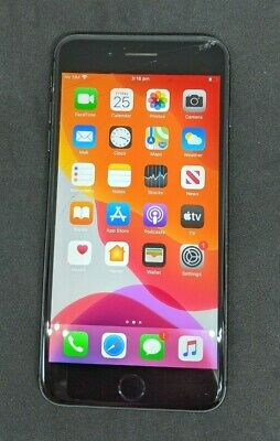 AU212.50 • Buy Apple IPhone 8 Plus - 64GB - Space Grey (Unlocked) A1864 -  SCREEN GLASS CRACKED