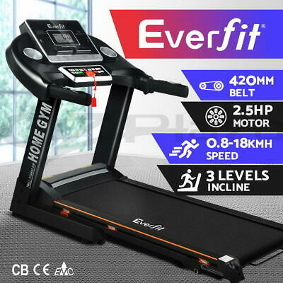 AU599.95 • Buy Everfit Electric Treadmill Home Gym Exercise Machine Fitness Equipment