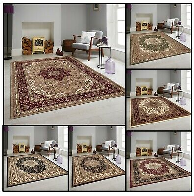 Traditional Vintage Style Classic Small Large Carpets & Rugs Living Area Rugs • 10.97£