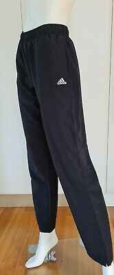AU15 • Buy Women's ADIDAS BLACK POLYESTER TRACK PANTS / Ankle Zip Size: 8 - Great Condition