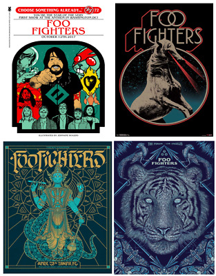 VINTAGE FOO FIGHTERS Music Tour Singer Band Poster/print A4/A3 • 8.50£