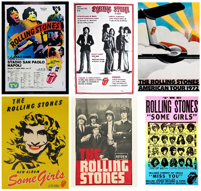 £8.50 • Buy VINTAGE THE ROLLING STONES Music Tour Singer Band Poster/print A4/A3