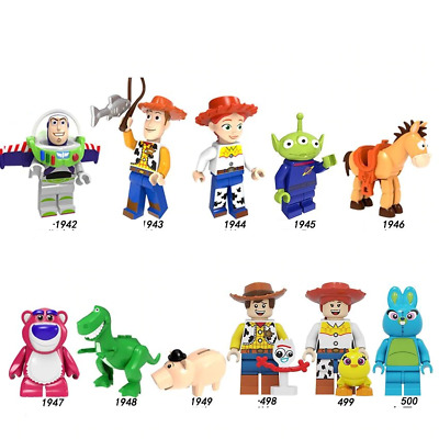 $1.99 • Buy Toy Story 4 Woody Jessie Bunny Buzz Lightyear  Rex Minifigures Lego MOC Brick