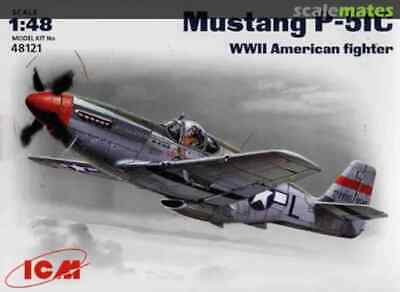 ICM 1:48 Scale Model Kit  - Mustang P-51C WWII American Fighter  ICM48121  • 12.50£
