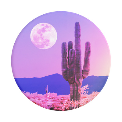AU11.95 • Buy PopSockets PopGrip: Swappable Grip For Phones & Tablets -Cactus On The Moon
