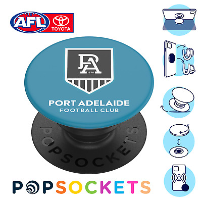 AU17.95 • Buy PopSockets AFL PopGrip: Swappable Grip For Phones - Port Adelaide Power (Gloss)