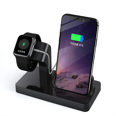 AU16.79 • Buy 2 In 1 Charger Fast Charging Stand Station Dock Cradle For Apple Watch IPhone