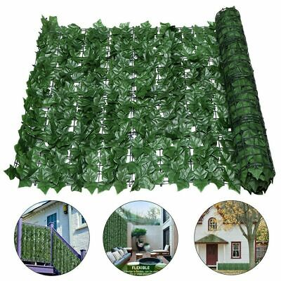 Artificial Fake Ivy Leaf Hedge Privacy Screening Garden Wall Fence Panel Roll 3m • 18.98£