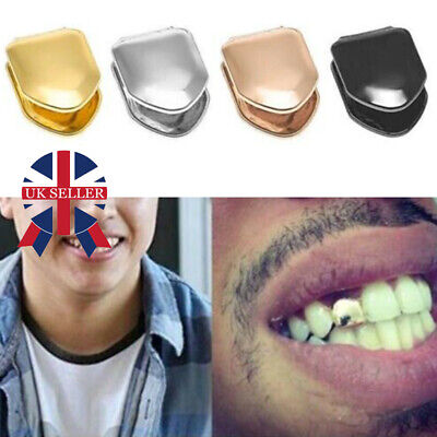 Comfort Custom Gold Plated Small Single Tooth Cap Grillz Hip Hop Teeth Grill E • 2.88£