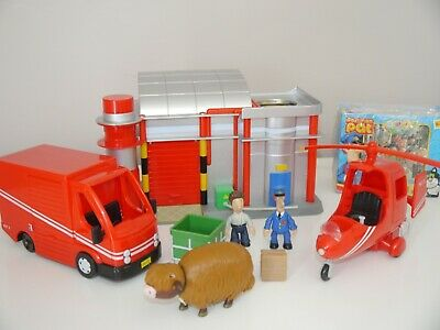 Postman Pat Bundle Playset SDS Sorting Office Helicopter Lorry Figures Game _21 • 27.99£