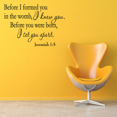 £6.69 • Buy Removable Wall Sticker Durable Bible Verse Christian Quote Wall Art Stickers