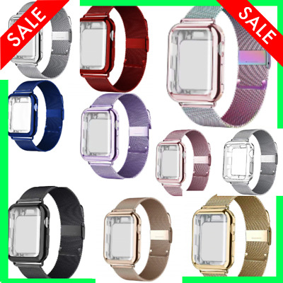 $ CDN17.17 • Buy Case And Strap For Apple Watch Band 42mm 38mm Iwatch 3/2/1 Metal Watchband Cover
