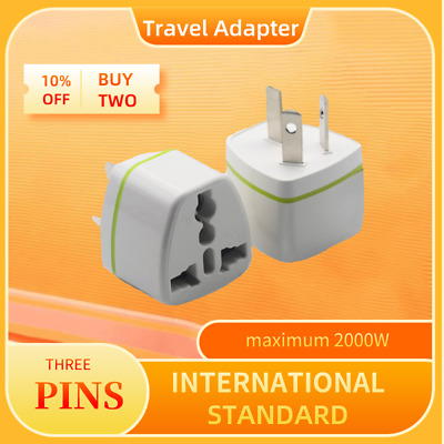AU13.59 • Buy Travel Adapter International Into Australia 2-Pin 3-Pin Plug 2000 W