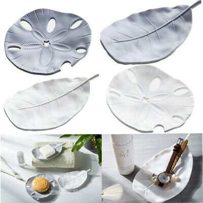 Leaf Starfish Design Soap Dishes Bathroom Draining Soap Tray Soap Dish Soap Case • 2.69£