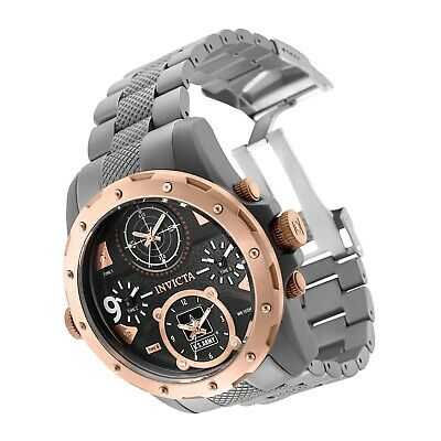 New Invicta SOLID TITANIUM US Army 50mm Men's Coalition Forces Quad Time Watch • 86.30£