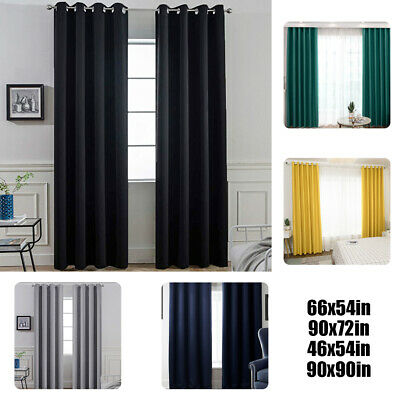 £20.29 • Buy Thick Thermal Blackout Ready Made Eyelet Ring Top Pair Curtains Panel