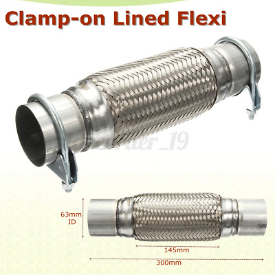 Exhaust Clamp-on Flexi Tube Joint Flexible Pipe Repair 2.5'' X 12'' 63x 300mm UK • 14.52£
