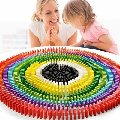 £6.99 • Buy 480Pcs Wooden Coloured Tumbling Dominoes Family Games Kids Play Set Toy Gift UK