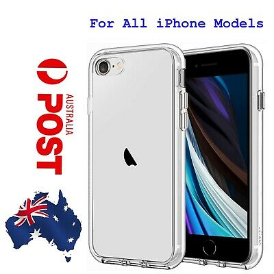 AU4.99 • Buy Clear Shockproof Bumper Back Case Cover For IPhone 11 XR 6 7 8 Plus 6S 5S 4
