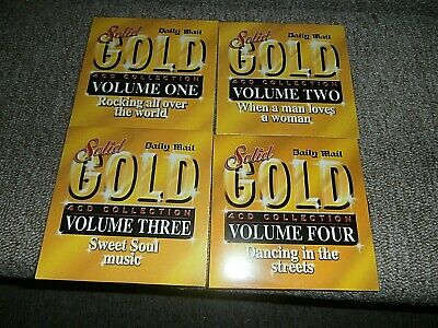 Daily Mail Cd's X 4 Solid Gold Collection 60 Tracks Never Played • 1.50£