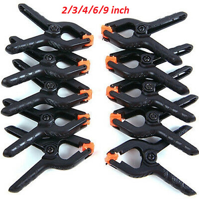 10pcs Photography Background Cloth Stand Studio Light Backdrop Clips Clamps  WS • 4.83£