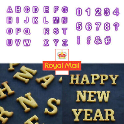 40 Pieces Alphabet Letter And Number Fondant Cookie Cake Cutters Decorating Set • 3.48£