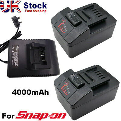 4.0Ah Replace Battery For Snap On 18V CT8850 CTB7185 CTB8185 CTB8187 &UK-Charger • 29£