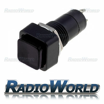 Black Momentary OFF-(ON)  Square Push Button Switch SPST 12v Car Dash Horn • 1.99£