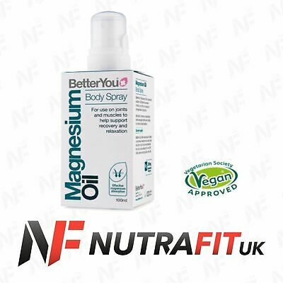 BETTERYOU MAGNESIUM OIL BODY SPRAY Joint Muscle Recovery Relax Vegan Approved • 10.99£