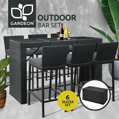 AU783.95 • Buy Gardeon Outdoor Furniture Bar Table Dining Chairs Stools Set Rattan Patio Lounge