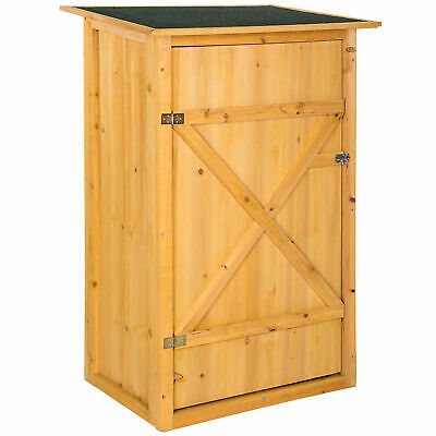 Wooden Outdoor Garden Cabinet Utility Storage Tools XXL Shelf Box Shed Flat Roof • 117.95£