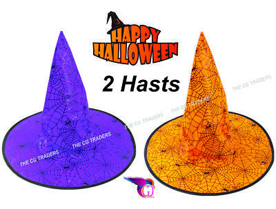 £6.25 • Buy  Halloween Witches Adult Kids WITCH HAT Wizard Fancy Dress Costume Accessory - 2